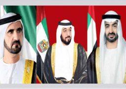 رئيس الدولة و نائبه و محمد بن زايد يعزون ملك البحرين بوفاة الشيخة هالة بنت دعيج آل خليفة