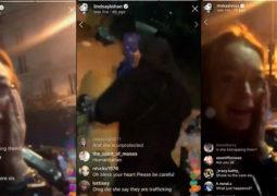 سورية تصفع النجمة ليندسى لوهان على وجهها بالطريق العام فى موسكو..