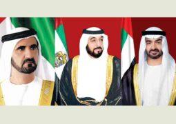 خليفة ومحمد بن راشد ومحمد بن زايد يهنئون ملك المغرب بيوم الشباب